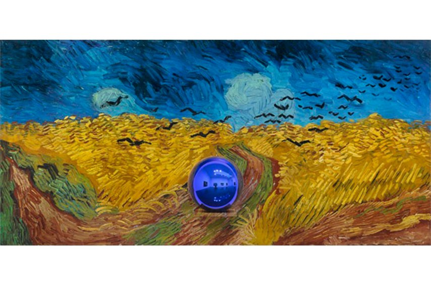 Jeff Koons - Gazing Ball (van Gogh Wheatfield with Crows), 2015