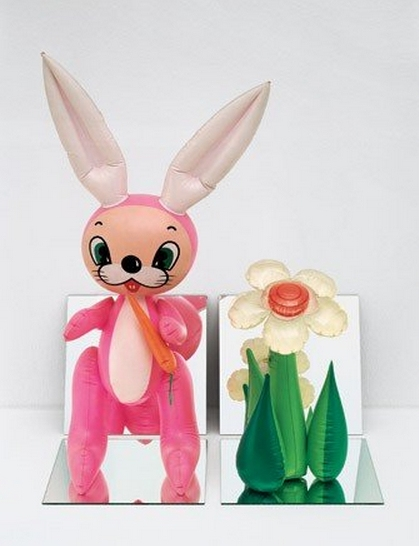 Jeff Koons-Inflatable Rabbit and Flower-1995