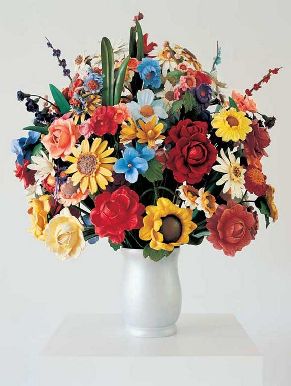 Jeff Koons-Large Vase of Flowers-1991
