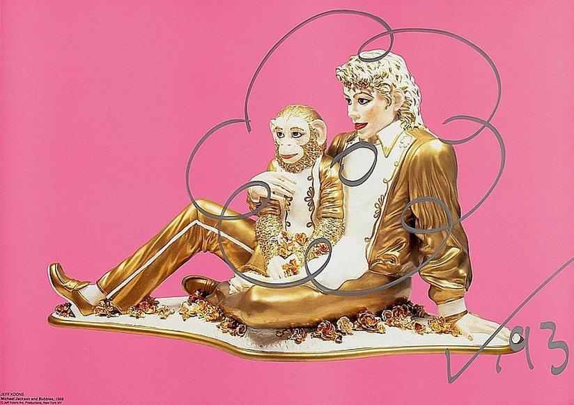 Jeff Koons-Michael Jackson and Bubbles-1988