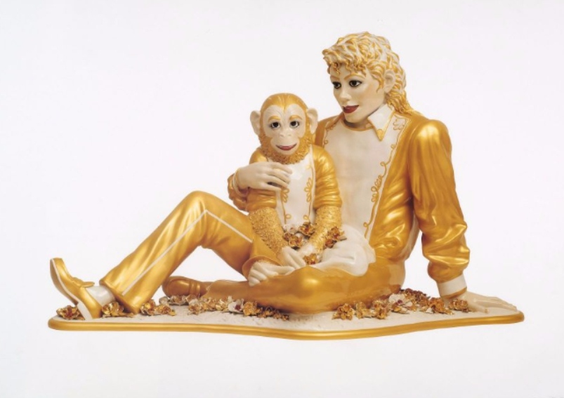 Jeff Koons-Michael Jackson and Bubbles-1995