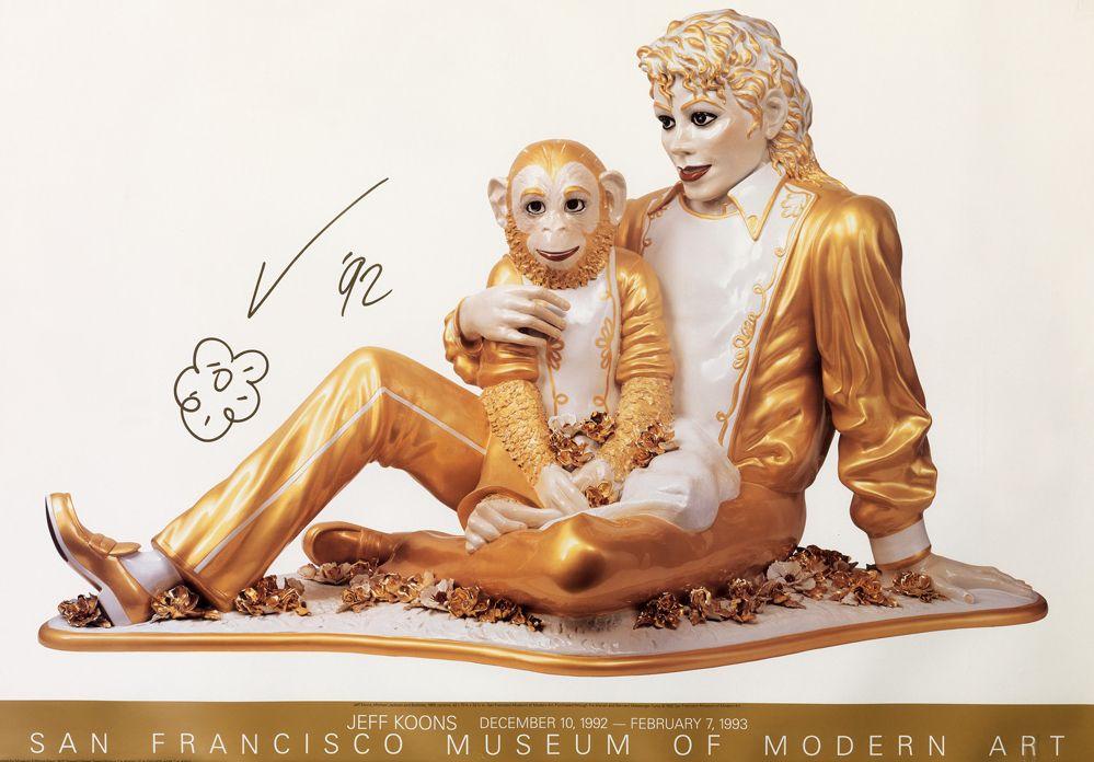 Jeff Koons-Michael Jackson and Bubbles (SFMOMA Poster)-1992