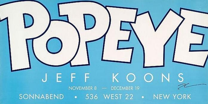 Jeff Koons-Popeye Jeff Koons Galerie Sonnabend-