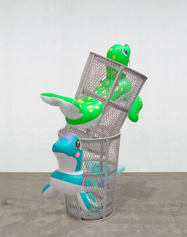 Jeff Koons-Seal Walrus Trashcans-2009