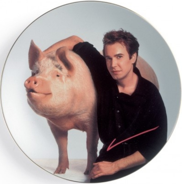Jeff Koons-Self portrait with a pig-1989