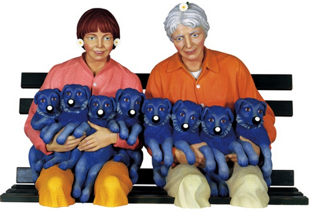 Jeff Koons-String of Puppies-1988