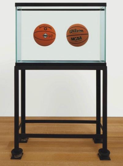 Jeff Koons-Two Ball 50-50 Tank (Spalding Dr.J.Serie, Wilson Supershot)-1985