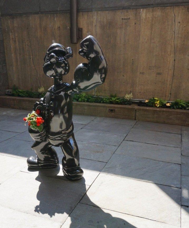 part of Koons' Retrospective exhibition