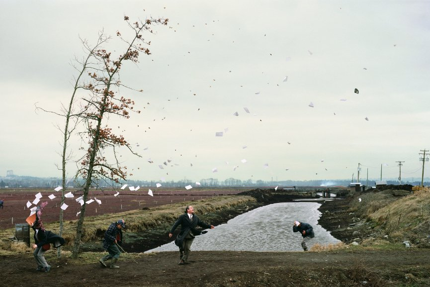 Jeff Wall - A Sudden Gust of Wind, 1993 - Image via imageobjecttextcom