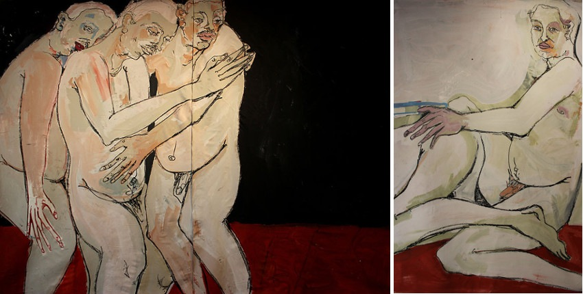 jeffreycheung - Three, Between Males Series, 2013 (Left) / Pre Raphael Villet, Between Males Series, 2013 (Right)