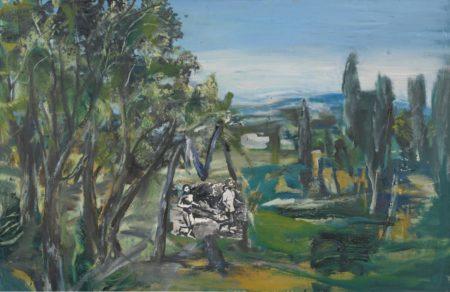 Jeffrey Dennis-Landscape With Figures-1985