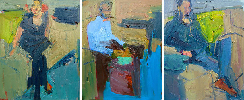 Jennifer Pochinski - Mikhail, 2015 - Man Eating, 2015 - Simon, 2015