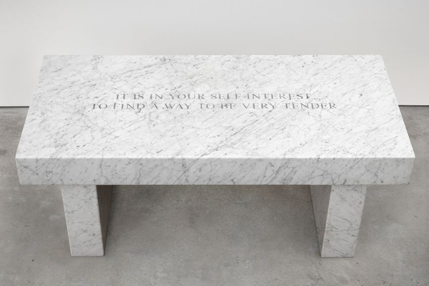 Jenny Holzer - Select from Survival- It's in your self-interest..., 2015