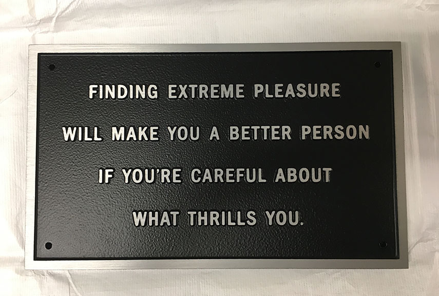 Jenny Holzer - Survival Finding extreme pleasure..., 1984