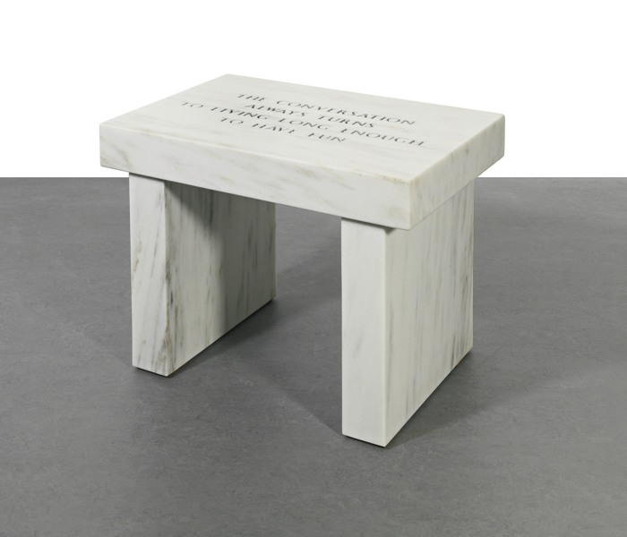 Jenny Holzer-The Conversation Always Turns To Living Long Enough To Have Fun-2005