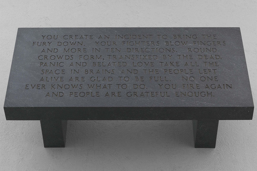 Jenny Holzer - Untitled, with selection from UNDER A ROCK ('You create an incident…'),1986