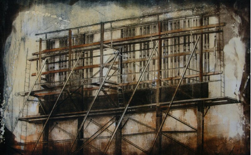 Jenny Robinson - Harison Street Billboard, Monoprint