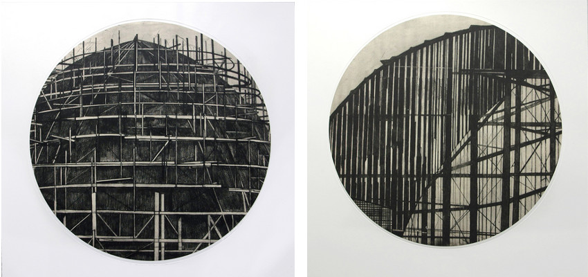 Jenny Robinson - Worlds Fair #1, Tondo (Left) / World Fair #2 (Right)