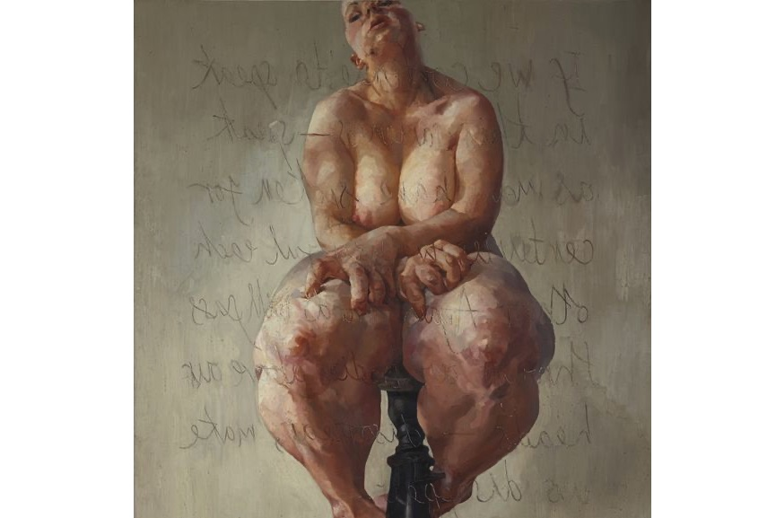 Jenny Saville - Propped, 1992, a work that broke an auction record by selling for $10,9 million