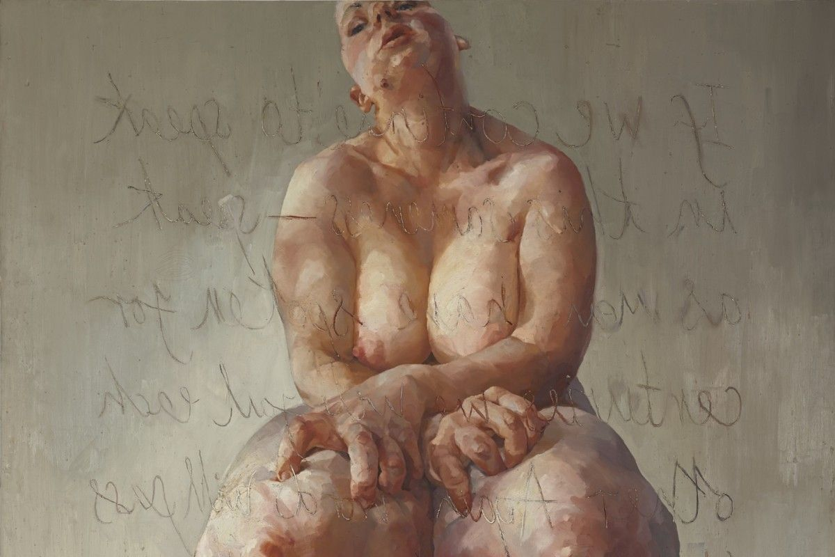 Jenny Saville - Propped (detail), 1992, a work that broke a record for women artists by selling for $10,9 million