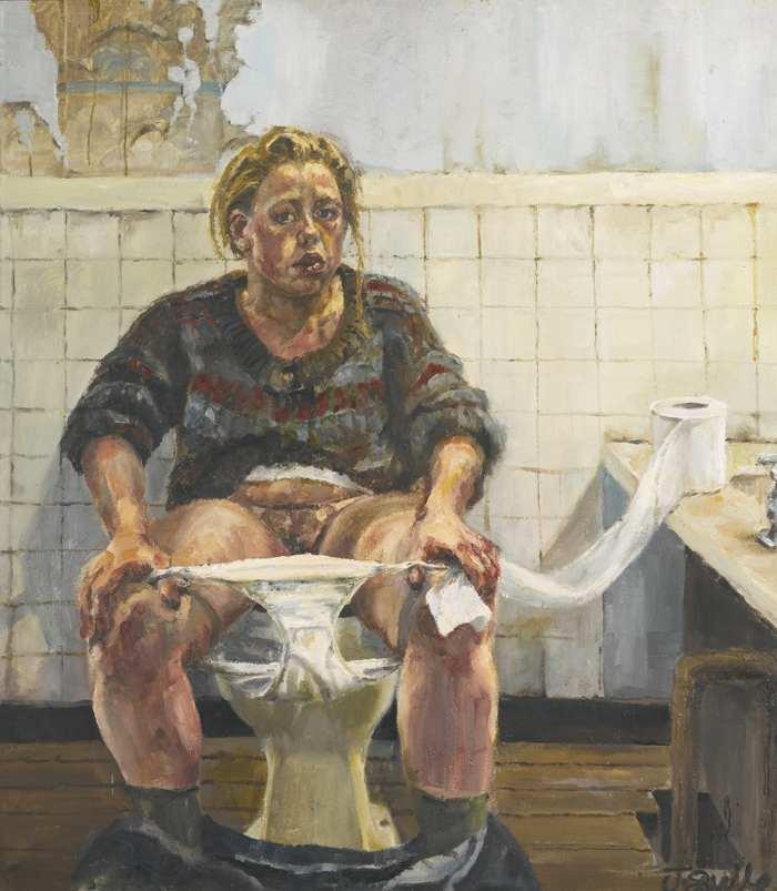 Jenny Saville-Self-Portrait-1991