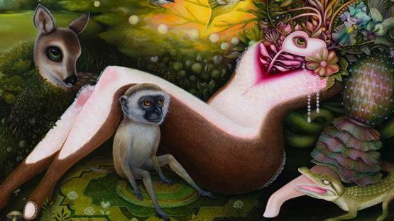 Jennybird Alcantara - Odalisque de la foret, 2015 (detail)