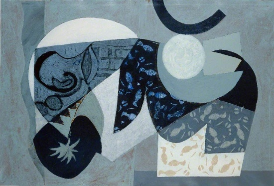 Jeremy Annear - Untitled Abstract in Blue and Grey, 1994 - Copyright the Artist