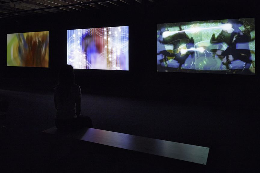 Winchester trilogy, 2002-04. Installation view of Project Los Altos, SFMOMA in Silicon Valley, 2013, via honorfraser com