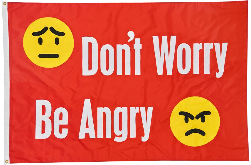 Jeremy Deller - Don't Worry Be Angry, 2017