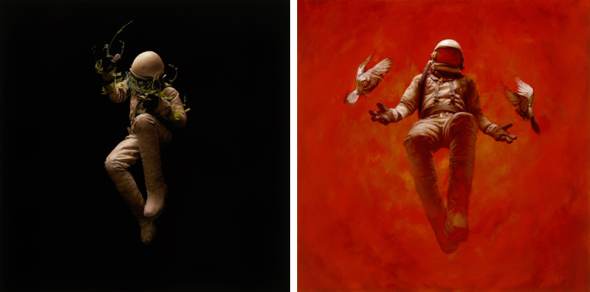 Jeremy Geddes - Ascent, 2014 (Left) - Hypostasis, 2014 (Right)