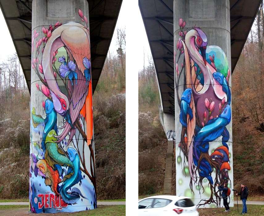 Jeroo - Nesenbach Valley Bridge, Stuttgart, Germany, 2016