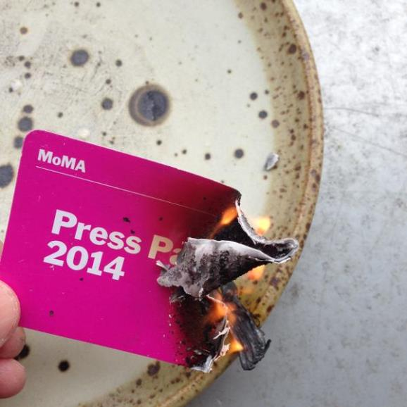 Jerry Saltz Burned His MoMA Press Pass