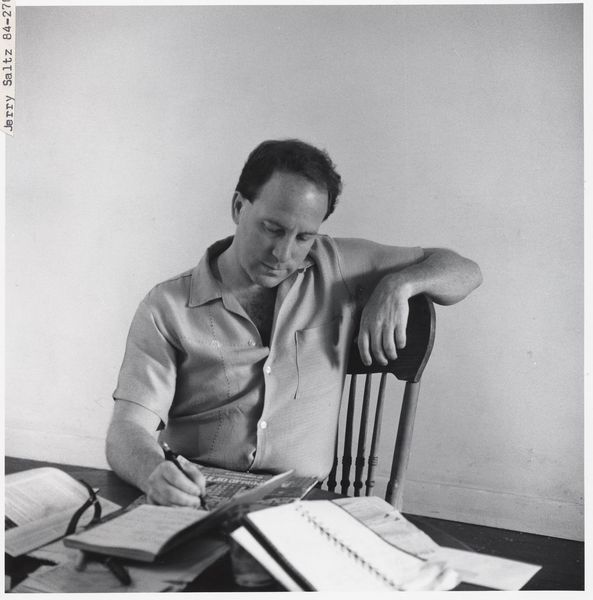 Jerry Saltz by Peter Sumner Walton Bellamy; writing news about the new exhibition on view