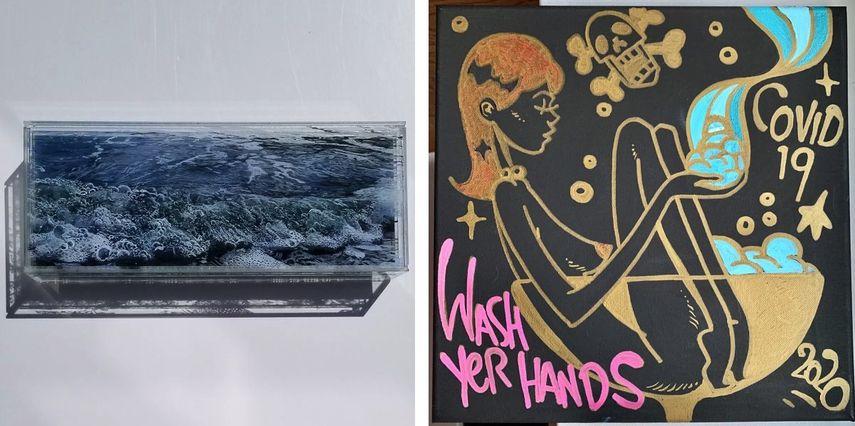 Jess Hurley Scott - Agitation, 2020, Matt Siren - WashYerHands, 2020