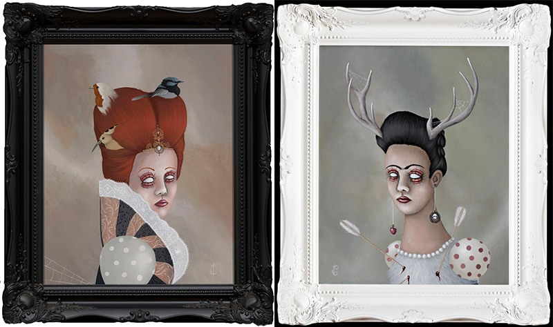Jessica Charlott - Elizabeth 2010 and Deer Frida, 2011