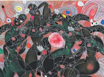 Jiang Tie Feng - Playing Water (detail), 1988