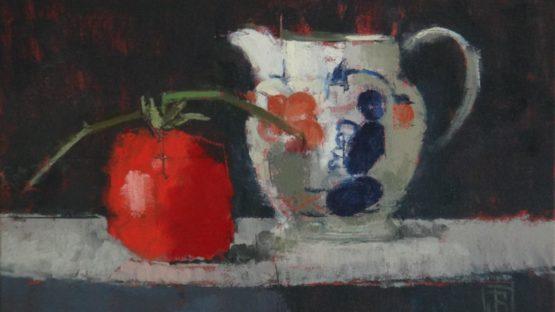 Jill Barthorpe - Gaudy Jug with Tomato, 2018 (detail)