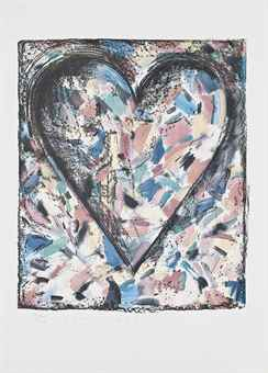 Jim Dine-Confetti Heart, from Astra Series-1985