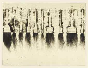 Jim Dine-Five Paintbrushes (Third State)-1973