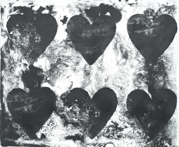 Jim Dine-One plate, from Dutch Hearts-1970