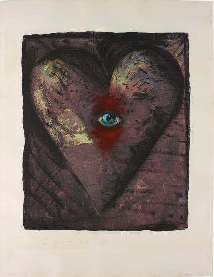 Jim Dine-The Hand-Colored Viennese Hearts V-1990