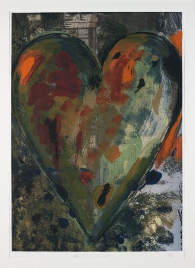 Jim Dine-The Pressure from the Left, from Hearts from Nikolaistrasse-2009