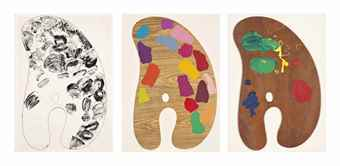 Jim Dine-Three plates, from Four Palettes-1969
