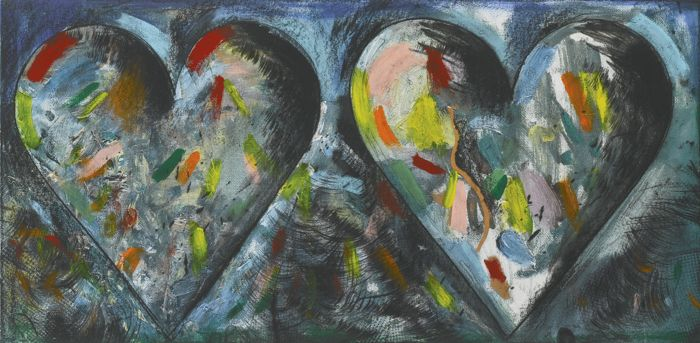 Jim Dine-Two Hearts For The Moment-1985
