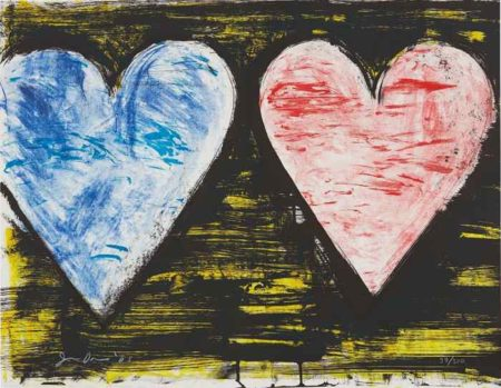 Jim Dine-Two Hearts at Sunset, from 2005 Suite-2005