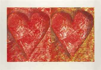 Jim Dine-Two Red Hearts-1993