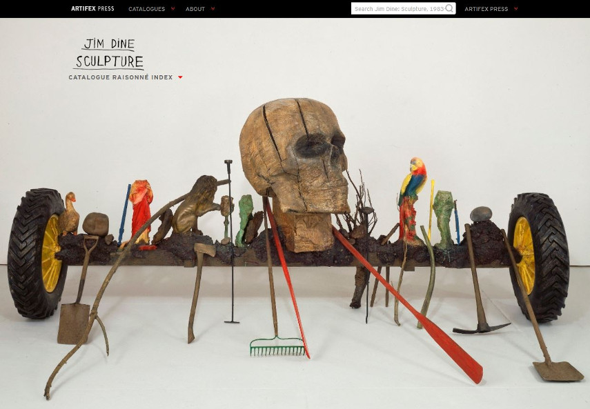 Jim Dine's Digital Catalogue Raisonné at Artifex - search by foundation
