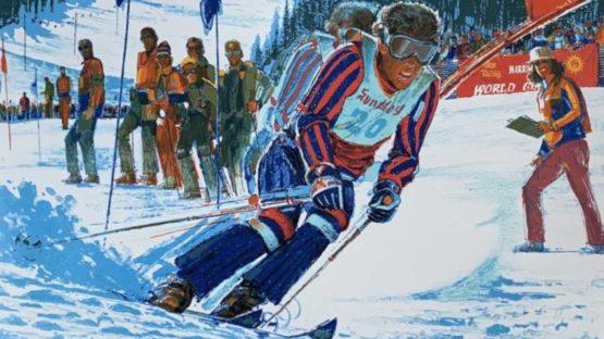 Jim Jonson - 1st US World Cup Skiing (Sun Valley, Idaho), 1977 (detail)
