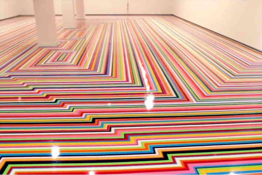 Jim Lambie - Zobop Floor Installation 2
