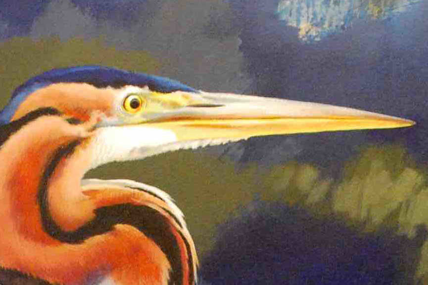 Jim Starr - Purple Heron, 2015, detail
